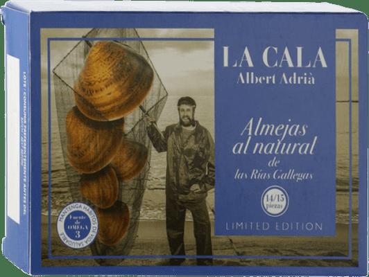 41,95 € Envío gratis | Conservas de Marisco La Cala Almeja Blanca al Natural España 14/16 Piezas