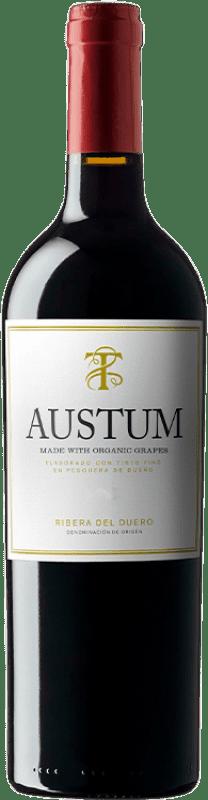 9,95 € Envoi gratuit | Vin rouge Tionio Austum Ecològic D.O. Ribera del Duero Castille et Leon Espagne Tempranillo Bouteille 75 cl