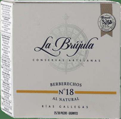 27,95 € Free Shipping | Conservas de Marisco La Brújula Berberechos Spain 25/30 Pieces
