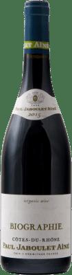 9,95 € Envío gratis | Vino tinto Jaboulet Aîné Biographie A.O.C. Côtes du Rhône Francia Syrah, Garnacha, Mourvèdre Botella 75 cl