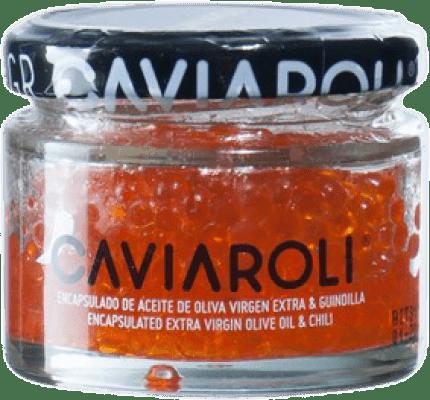 19,95 € Free Shipping | Conservas Vegetales Caviaroli Caviar de Aceite de Oliva Virgen Extra Encapsulado con Guindilla Spain