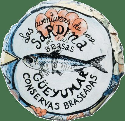 9,95 € Kostenloser Versand | Conservas de Pescado Güeyu Mar Colas de Sardina Fürstentum Asturien Spanien