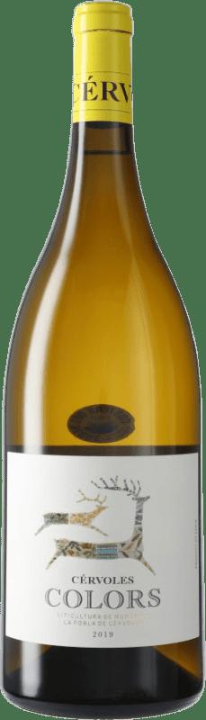 16,95 € Envío gratis | Vino blanco Cérvoles Colors Blanc D.O. Costers del Segre España Botella Mágnum 1,5 L