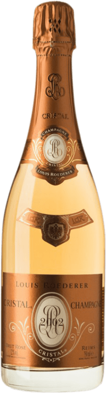 998,95 € Free Shipping | Rosé sparkling Louis Roederer Cristal Rosé Brut 2002 A.O.C. Champagne Champagne France Pinot Black, Chardonnay Bottle 75 cl