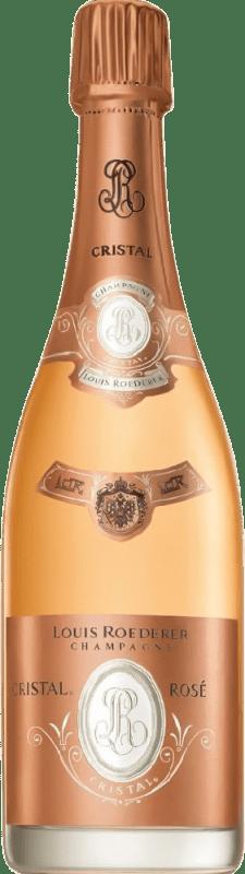 698,95 € Free Shipping | Rosé sparkling Louis Roederer Cristal Rosé Brut 2000 A.O.C. Champagne Champagne France Pinot Black, Chardonnay Bottle 75 cl