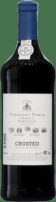19,95 € Envío gratis | Vino tinto Niepoort Crusted I.G. Porto Porto Portugal Touriga Franca, Touriga Nacional, Tinta Roriz Botella 75 cl