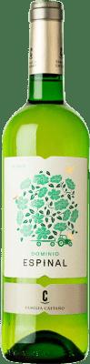 4,95 € Envío gratis | Vino blanco Castaño Dominio de Espinal D.O. Yecla España Macabeo Botella 75 cl