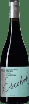 11,95 € Envío gratis | Vino tinto Ostatu Escobal D.O.Ca. Rioja España Tempranillo Botella 75 cl