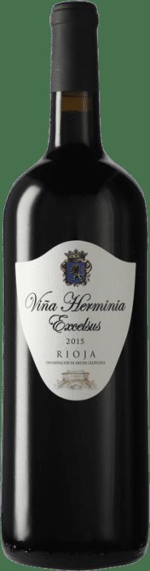 21,95 € Envío gratis | Vino tinto Viña Herminia Excelsus D.O.Ca. Rioja España Tempranillo, Garnacha Botella Mágnum 1,5 L