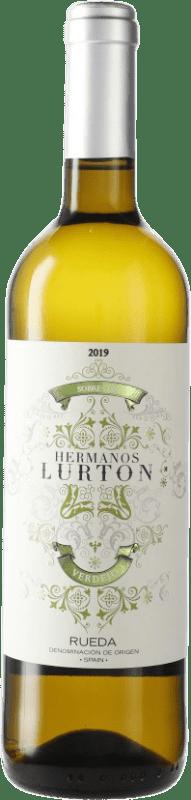 9,95 € Envío gratis | Vino blanco Piedra Negra François Lurton D.O. Rueda Castilla y León España Verdejo Botella 75 cl
