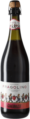 9,95 € Free Shipping | Red sparkling Giacobazzi Fragolino Italy Lambrusco Bottle 75 cl