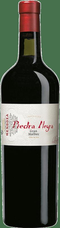 31,95 € Envío gratis | Vino tinto Piedra Negra Gran Piedra Negra I.G. Mendoza Mendoza Argentina Malbec Botella 75 cl