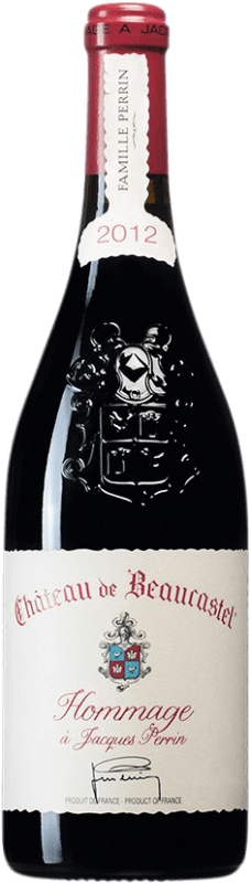 584,95 € Free Shipping   Red wine Château Beaucastel Hommage à Jacques Perrin A.O.C. Châteauneuf-du-Pape France Syrah, Mourvèdre Bottle 75 cl