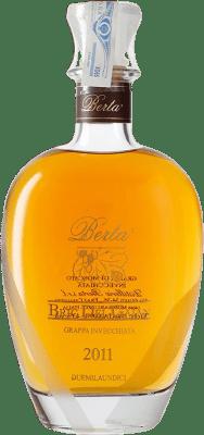 138,95 € Free Shipping | Grappa Berta Invecchiata Gaian Moscato D.O.C. Piedmont Piemonte Italy Muscatel Bottle 70 cl