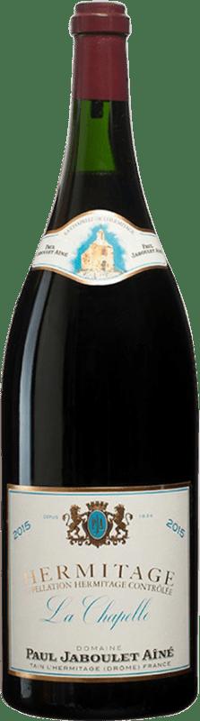 1 291,95 € Envío gratis | Vino tinto Jaboulet Aîné La Chapelle A.O.C. Hermitage Francia Syrah Botella Jéroboam-Doble Mágnum 3 L