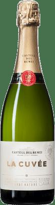 8,95 € Envío gratis | Espumoso blanco Castell del Remei La Cuvée Brut Nature D.O. Cava España Macabeo, Xarel·lo, Parellada Botella 75 cl
