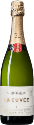 8,95 € Free Shipping | White sparkling Castell del Remei La Cuvée Brut Nature D.O. Cava Spain Macabeo, Xarel·lo, Parellada Bottle 75 cl