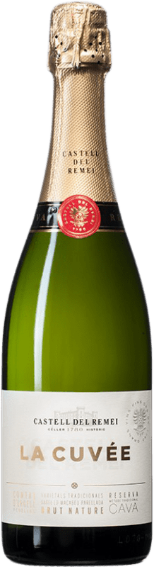 14,95 € Free Shipping | White sparkling Castell del Remei La Cuvée Brut Nature D.O. Cava Spain Macabeo, Xarel·lo, Parellada Bottle 75 cl