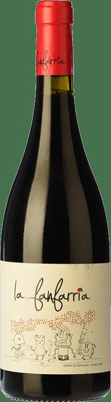 12,95 € Free Shipping | Red wine Dominio del Urogallo La Fanfarria Principality of Asturias Spain Mencía, Albarín Black Bottle 75 cl