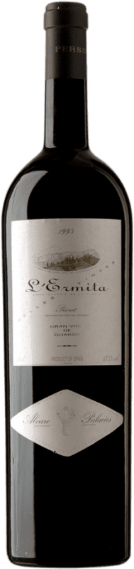 4 245,95 € Envío gratis | Vino tinto Álvaro Palacios L'Ermita 1995 D.O.Ca. Priorat Cataluña España Garnacha, Cabernet Sauvignon Botella Jéroboam-Doble Mágnum 3 L