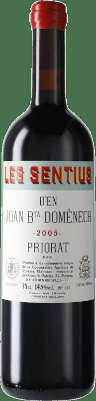 91,95 € Envío gratis | Vino tinto Cims de Porrera Les Sentius d'en Joan Bta. Domènech 2005 D.O.Ca. Priorat Cataluña España Cariñena Botella 75 cl