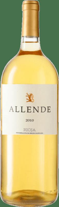 66,95 € Envío gratis | Vino blanco Allende 2010 D.O.Ca. Rioja España Viura, Malvasía Botella Mágnum 1,5 L