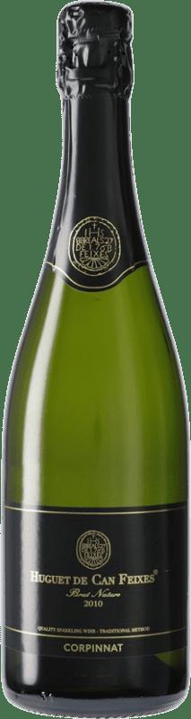 11,95 € Envío gratis | Espumoso blanco Huguet de Can Feixes Brut Nature Corpinnat España Pinot Negro, Macabeo, Parellada Botella 75 cl