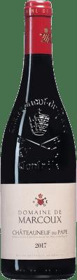 49,95 € Envío gratis | Vino tinto Domaine de Marcoux A.O.C. Châteauneuf-du-Pape Francia Syrah, Garnacha, Mourvèdre, Cinsault Botella 75 cl