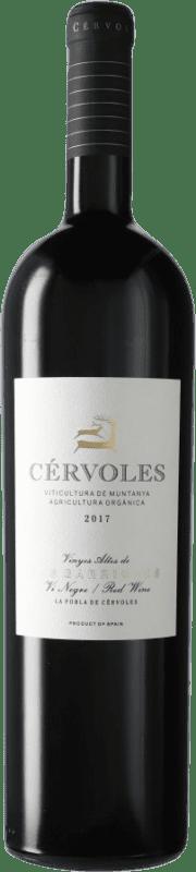 42,95 € Envío gratis | Vino tinto Cérvoles D.O. Costers del Segre España Tempranillo, Merlot, Garnacha, Cabernet Sauvignon Botella Mágnum 1,5 L