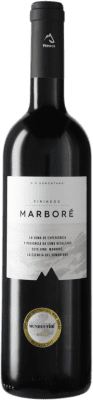 24,95 € Free Shipping | Red wine Pirineos Marboré D.O. Somontano Catalonia Spain Tempranillo, Merlot, Cabernet Sauvignon, Moristel, Parraleta Bottle 75 cl