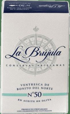 8,95 € Envío gratis | Conservas de Marisco La Brújula Navajas al Natural España 4/6 Piezas
