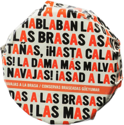 16,95 € Envío gratis | Conservas de Marisco Güeyu Mar Navajas Principado de Asturias España 6/8 Piezas