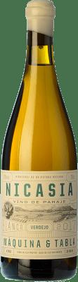 23,95 € Kostenloser Versand | Weißwein Máquina & Tabla Nicasia D.O. Rueda Kastilien und León Spanien Verdejo Flasche 75 cl