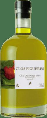 17,95 € Envío gratis | Aceite Clos Figueras Oli d'Oliva Virgen Extra España Botella Medium 50 cl
