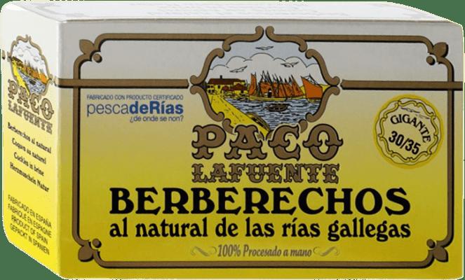 14,95 € Envío gratis | Conservas de Marisco Conservera Gallega Paco Lafuente Berberechos Galicia España 30/35 Piezas
