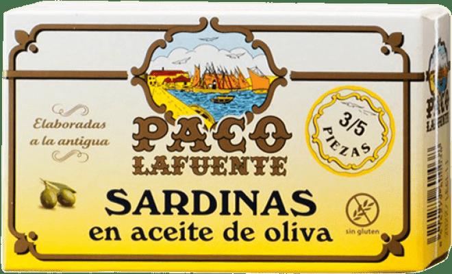 2,95 € Free Shipping | Conservas de Pescado Conservera Gallega Paco Lafuente Sardinas en Aceite de Oliva Galicia Spain 3/5 Pieces