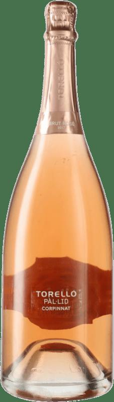 39,95 € Free Shipping | Rosé sparkling Torelló Pàl·lid Rosé Brut Corpinnat Spain Pinot Black Magnum Bottle 1,5 L