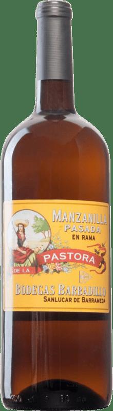 56,95 € Envío gratis   Vino generoso Barbadillo Pastora Pasada en Rama 2000 D.O. Manzanilla-Sanlúcar de Barrameda Sanlúcar de Barrameda España Palomino Fino Botella Mágnum 1,5 L