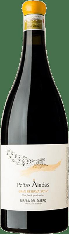 387,95 € Envío gratis | Vino tinto Dominio del Águila Peñas Aladas Gran Reserva D.O. Ribera del Duero Castilla y León España Tempranillo, Bruñal, Albillo Criollo Botella Mágnum 1,5 L
