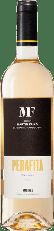 9,95 € Envío gratis | Vino blanco Martín Faixó Perafita Blanc D.O. Empordà Cataluña España Picapoll Botella 75 cl