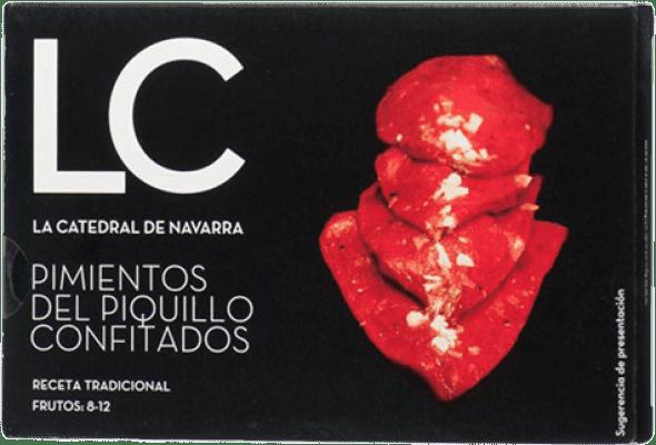 13,95 € Envío gratis | Conservas Vegetales La Catedral Pimientos del Piquillo Confitados España