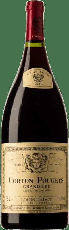 302,95 € Free Shipping | Red wine Louis Jadot Pougets Grand Cru 2002 A.O.C. Corton Burgundy France Chardonnay Magnum Bottle 1,5 L