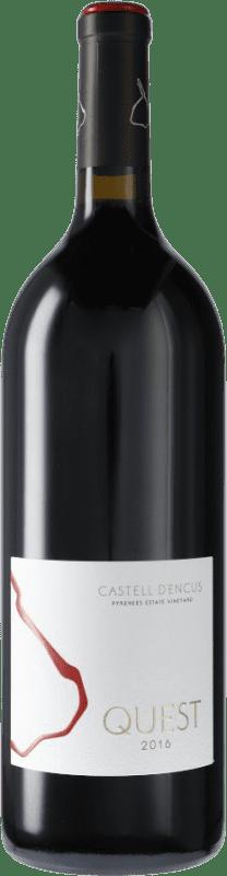 79,95 € Kostenloser Versand | Rotwein Castell d'Encús Quest D.O. Costers del Segre Spanien Merlot, Cabernet Sauvignon, Cabernet Franc, Petit Verdot Magnum-Flasche 1,5 L