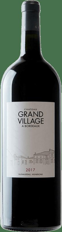 52,95 € Free Shipping | Red wine Château Grand Village Rouge A.O.C. Bordeaux Supérieur Bordeaux France Merlot, Cabernet Franc Magnum Bottle 1,5 L
