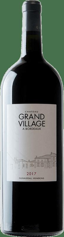 152,95 € Free Shipping | Red wine Château Grand Village Rouge A.O.C. Bordeaux Supérieur Bordeaux France Merlot, Cabernet Franc Jéroboam Bottle-Double Magnum 3 L