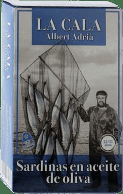 6,95 € Kostenloser Versand | Conservas de Pescado La Cala Sardinillas en Aceite de Oliva Spanien 25/35 Stücke