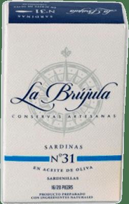 3,95 € Kostenloser Versand | Conservas de Pescado La Brújula Sardinillas en Aceite de Oliva Spanien 15/20 Stücke