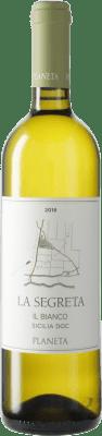 16,95 € Free Shipping | White wine Planeta Segretta Blanc I.G.T. Terre Siciliane Sicily Italy Viognier, Chardonnay, Fiano, Grecanico Dorato Bottle 75 cl