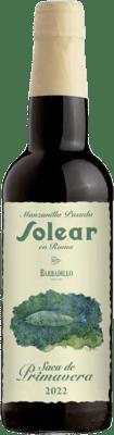 16,95 € Free Shipping | Fortified wine Barbadillo Solear en Rama Saca de Primavera D.O. Manzanilla-Sanlúcar de Barrameda Sanlucar de Barrameda Spain Palomino Fino Half Bottle 37 cl