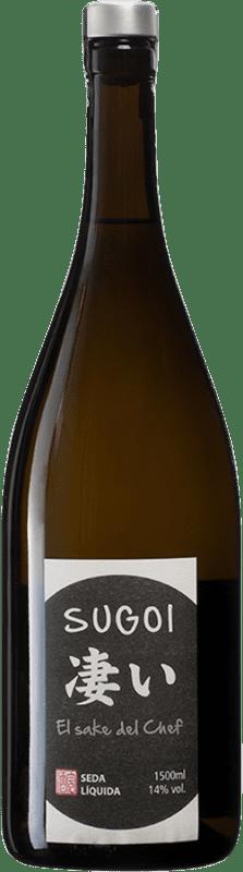 32,95 € Envío gratis | Sake Seda Líquida Sugoi España Botella Mágnum 1,5 L